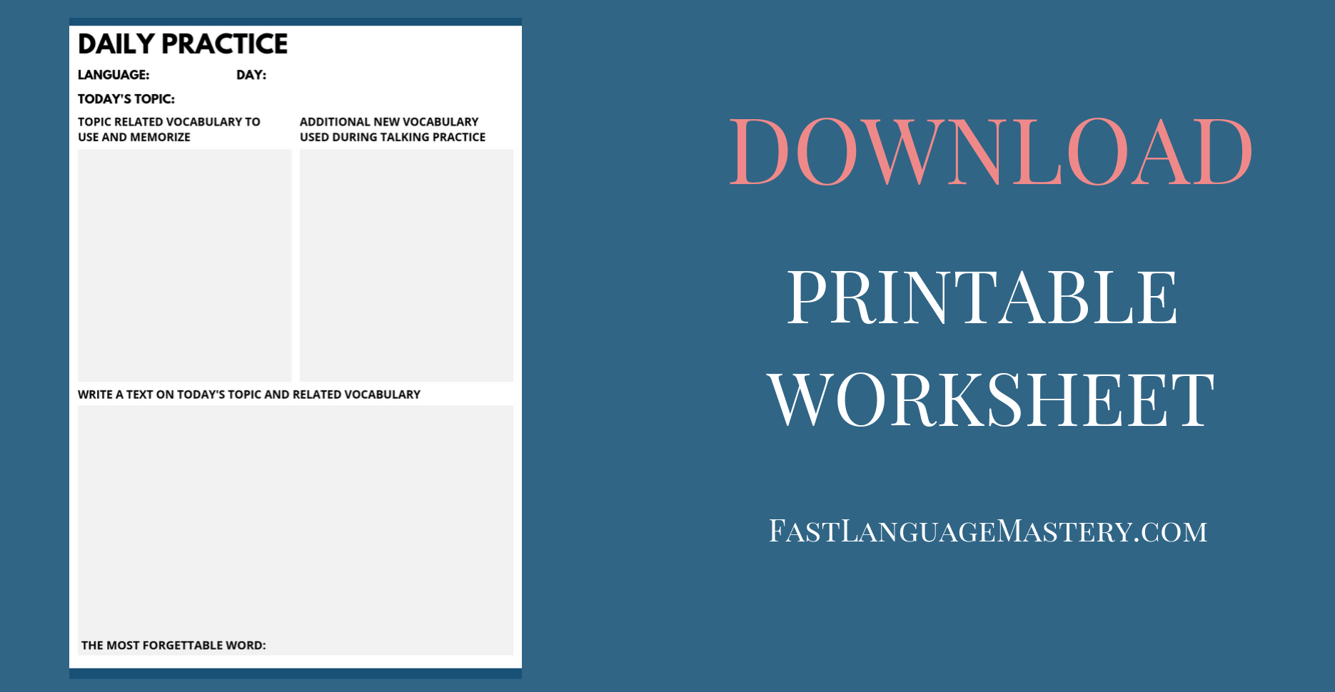 printable language learning worksheet